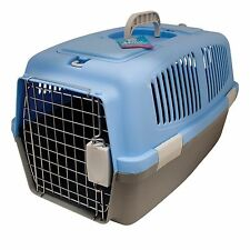 PET CARRIER CRATES STRONG STURDY PLASTIC CASE METAL CAGE DOOR CHOOSE SIZE