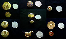 YOUR CHOICE OF 7 STYLES STUNNING GOLDEN BUTTONS FOR SUITS DRESSES IN ASST. SIZES