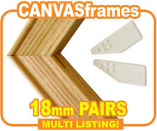 Canvas Stretcher Bars, Canvas Frames, Pine Standard Bars 18mm - SOLD IN PAIRS