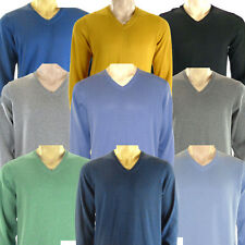 Marks & Spencer Mens Blue Harbour M&S New V Neck Jumper Sweater Pullover Top