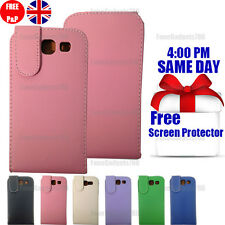 LEATHER FLIP CASE COVER & FREE SCREEN PROTECTOR FITS Samsung s3 i9300