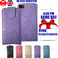 DIAMOND LEATHER FLIP CASE COVER & FREE SCREEN PROTECTOR FOR BLACKBERRY Z10