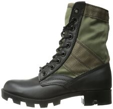 """Olive Drab & Black Jungle Boots Military 8"""" Tactical Boots"""