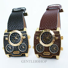 Mens Fashion Navy Army Square Still Leather Band Wrist Watches-N346 ,GENTLERSHOP
