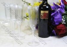 "WEDDING -  60 120 240 PLASTIC CHAMPAGNE WINE FLUTES GLASSES!! 8.5"" Tall US Stock"