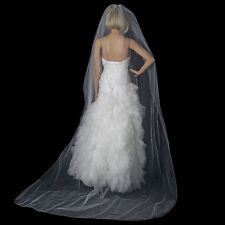 Bridal Wedding Single Layer Pencil Edge Cathedral Length Veil VP 1C