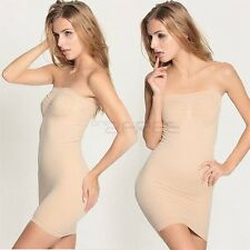 New Firm Tummy Hip Control Strapless Full Slip Dress Skirt Body Shaper Shapewear