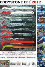 BASS LURES - EDDYSTONE EEL 2012 - PK 3/4 WEIGHTED SANDEEL LURES