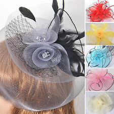 Wholesale Lady Hair Accessory Clip Fascinator Feather Flower Lace Wedding Party