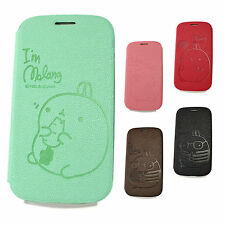 SAMSUNG Galaxy S3 Cute Rabbit Leather Case Flip Cover Skin Wallet Pouch Diary