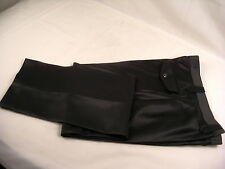 Mesquite Western Cut slacks Pants Black pick sz 100% polyester textured sheen NW