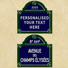 Personalised French Style Road Sign, Traditional Street Sign Classic House Sign
