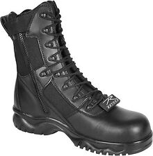 Black Military Side Zipper Forced Entry Composite Toe Tactical Boots 8""