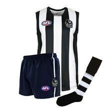 Official AFL Footy Collingwood Magpies Kids Auskick Jumper Guernsey Shorts Socks