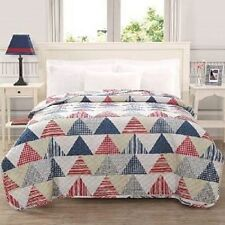 Ashley Cooper Triangles Print Quilt Brand New In Twin, Full/Queen, or King Size