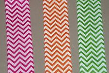 "5 yards CHEVRON ZIG ZAG PRINT GROSGRAIN   1 1/2"" wide (your choice of 3 colors)"