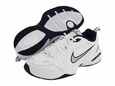 NEW MENS NIKE AIR MONARCH IV RUNNING TRAINING SHOES WHITE BLUE MEDIUM WIDTH SIZE