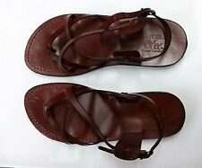 Men's Brown Leather Greek/Roman Sandals Sizes US 4.5-11.5 EU 36-46 Style 5