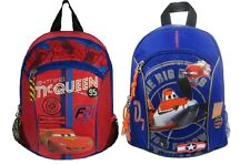 New Canvas Disney Character Cars Planes Backpack Rucksack Bags for Kids Boys