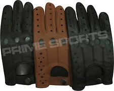 NEW* TOP QUALITY REAL SOFT LEATHER MEN'S DRIVING GLOVES -D507-STAR