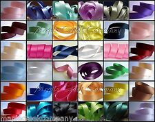 Double Face Satin Ribbon 5/8 inch x 5 yards (15 feet of ribbon) 34 COLORS