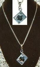 """18"""" or 24"""" Inch Necklace & Ace of Spades Lucky Pendant Gambler Poker Charm Gift"""