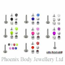 Labret / Monroe / Tragus Bar 16g (1.2mm) Bonus Pack - Choose Pack & Size