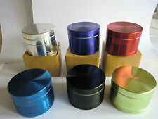 HIGH QUALITY Pro Aluminium 56mm - 4Part  Herb Grinder   SIX Colours -GOOD SIZE