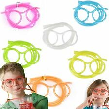Straw Glasses - 5 Colours - Kids Party Bag - Drinking Games