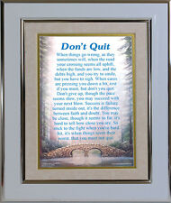Don't Quit Personalised Gift Frame Motivational Inspirational Support Poem