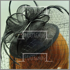 Sinamay Ladies Wedding Veil Feather Beret Cocktail Hat Fascinators MULTICOLOR G1