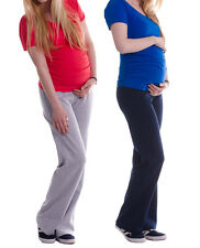 Maternity Pregnancy Trousers Yoga Gym Pants Casual Over Bump 8 10 12 14 16