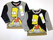 Kids Long Sleeve Character Top Boys Printed The Simpsons Shirts Size 2-8 Years