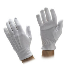 Mens & Womens 100% Cotton Parade Gloves - Ornamental Stitching - Sold by Dozen