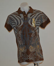 Christian Audigier Mens Polos - BROWN - Sizes S,M,L & XL- NEW