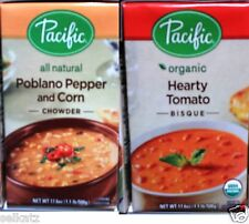 Pacific All Natural or Organic Soup Bisque Chowder Heat & Serve ~ Pick One