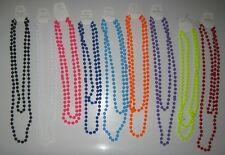 LONG NEON BEADS NECKLACE FOR FANCY DRESS 80s PARTIES