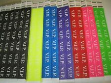 VIP TYVEK CONSECTIVELY NUMBERED WRISTBANDS - SELECT YOUR OWN COLOR/QUANTITY