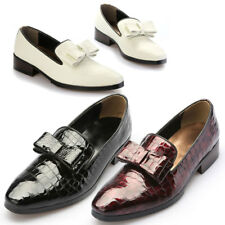 Mens Ribbon Styling Crocodile Pattern Leather / Patent Loafers 5075, GENTLERSHOP