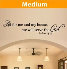 As for me and my house, we will serve the Lord wall vinyl lettering quote 2046