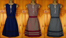 NEW LADIES MONSOON NAVY BLUE BURGUNDY RED GREY VINTAGE STYLE PARTY SHIFT DRESS