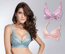 New Hot Womens Side Support B C D E Cup Plunge Push Lift Up Lace Underwired Bra