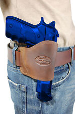 Barsony Brown Leather Yaqui Gun Holster for Smith & Wesson 9mm 40 45 Full Size