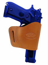 Barsony Tan Leather Yaqui Gun Holster for CZ, EAA, FEG 9mm 40 45 Full Size