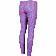 GLAMOROUS WOMEN'S NEON HOUNDSTOOTH LEGGINGS BLUE/PINK HOUSE OF HOLLAND STYLE