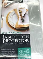 High Quality Crystal Clear Vinyl Tablecloth Protector with Double stitched Edges