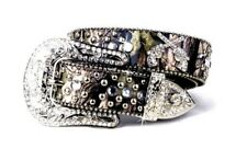 CAMO LEATHER BLING RHINESTONE GUN PISTOLS NEW CUTE WESTERN BELT MEDIUM LARGE XL