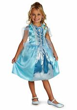 Disney Princess - Cinderella Sparkle Girls Costume (US Size Sml 4-6 + 7-8)