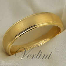 Tungsten Ring 14K Gold Mens or Womens Wedding Band 6mm Bridal Jewelry Size 6-13