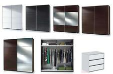 Savona Black, White or Brown Sliding Door Wardrobe Bedroom Furniture Cupboard